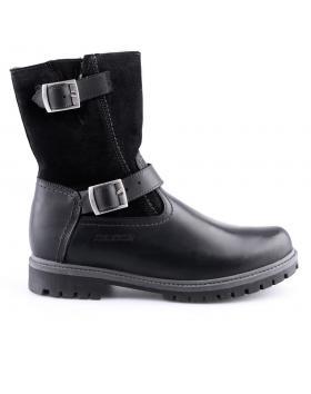 мъжки ежедневни черни боти с топъл агнешки хастар 0127118
