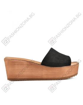Черни дамски ежедневни чехли Carly в online магазин Fashionzona