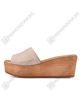 Бежови дамски ежедневни чехли Aitana в online магазин Fashionzona