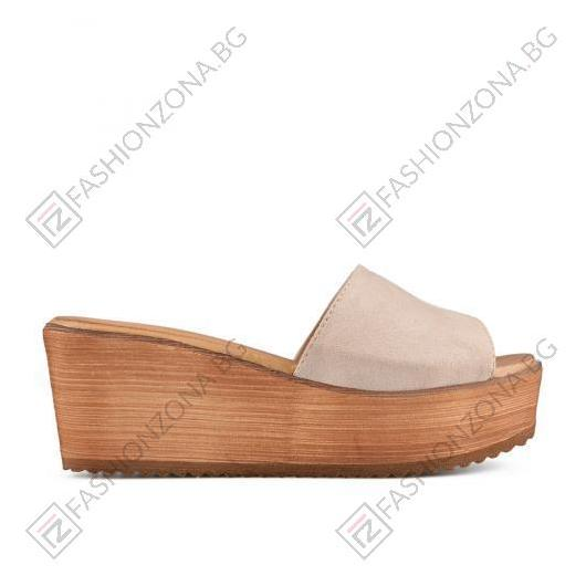 Бежови дамски ежедневни чехли Aitana