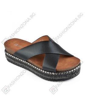Черни дамски ежедневни чехли Luna в online магазин Fashionzona