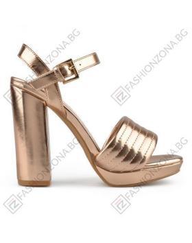 Златисти дамски елегантни сандали Jayla в online магазин Fashionzona