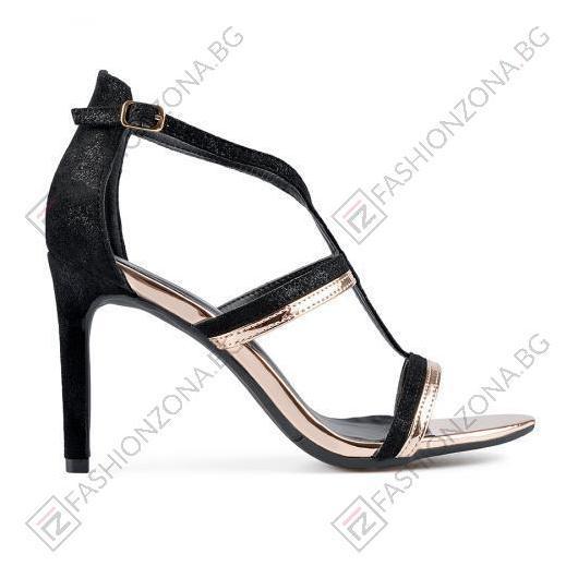 Черни дамски елегантни сандали Jaelynn