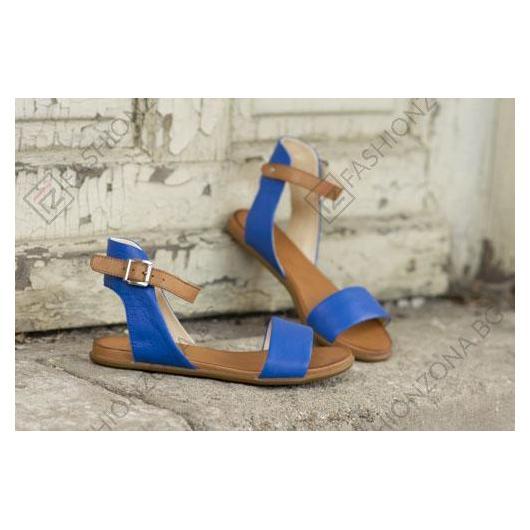 Сини дамски ежедневни сандали Miriam
