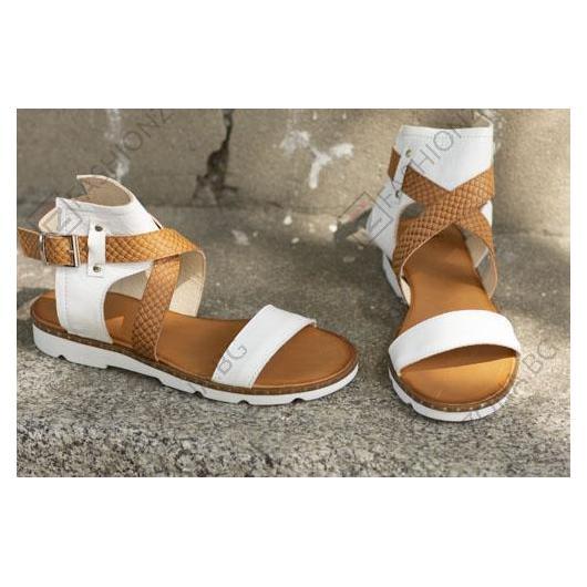 Бели дамски ежедневни сандали Kenzie