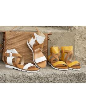 Бели дамски ежедневни сандали Kenzie в online магазин Fashionzona