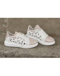 Бели дамски ежедневни обувки Chasity