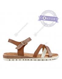 Кафяви дамски ежедневни сандали Yamileth в online магазин Fashionzona