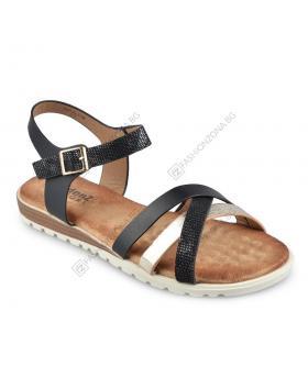Черни дамски ежедневни сандали Alisha в online магазин Fashionzona