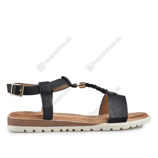 Черни дамски ежедневни сандали Tinley