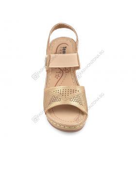 Бежови дамски елегантни сандали Vonda в online магазин Fashionzona