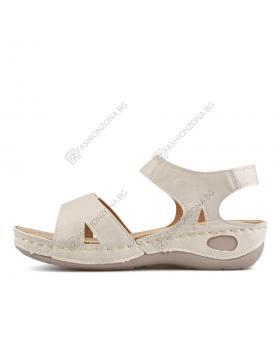 Бежови дамски ежедневни сандали Malaya в online магазин Fashionzona