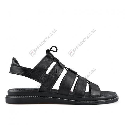 Черни дамски ежедневни сандали Monroe