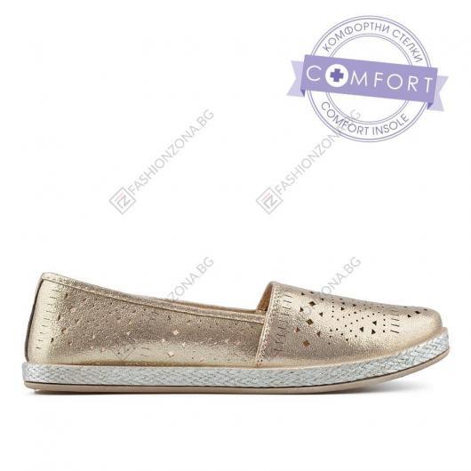 Златисти дамски ежедневни обувки Avalyn