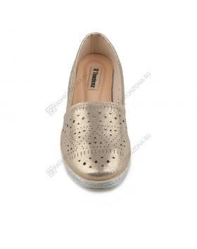 Златисти дамски ежедневни обувки Avalyn в online магазин Fashionzona