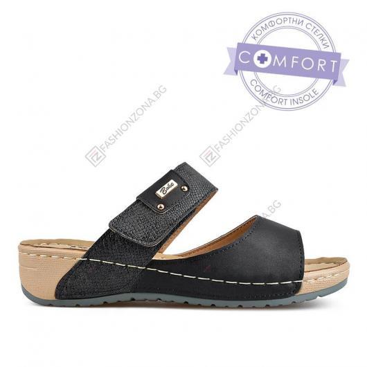 Черни дамски ежедневни чехли Alaina