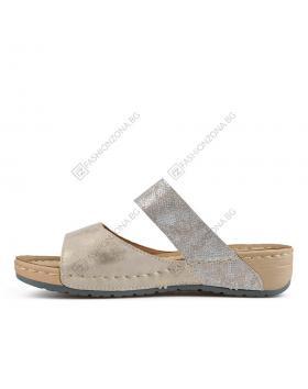 Бежови дамски ежедневни чехли Everly в online магазин Fashionzona