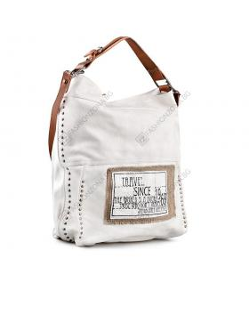 Бяла дамска ежедневна чанта Lillianna в online магазин Fashionzona