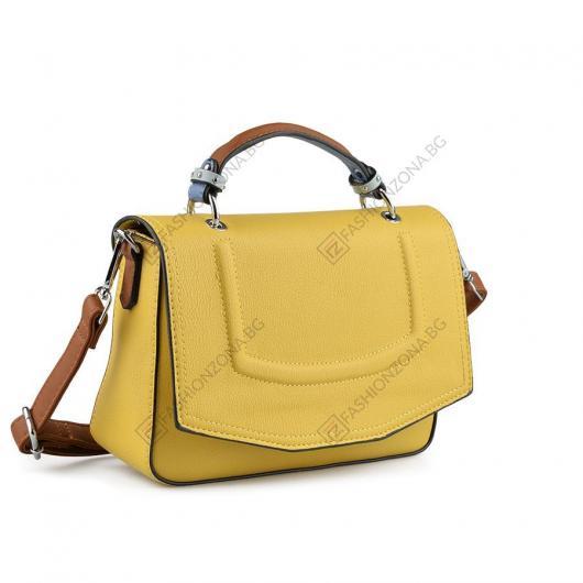 Жълта дамска ежедневна чанта Katina Kailee