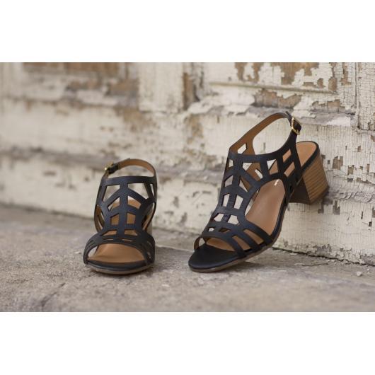 Черни дамски ежедневни сандали Ryann