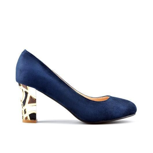 Сини дамски елегантни обувки Laroux