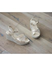 Бежови дамски ежедневни сандали Ingrid