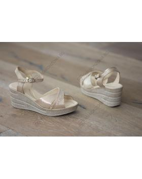 Бежови дамски ежедневни сандали Ingrid в online магазин Fashionzona
