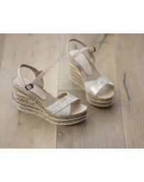 Бежови дамски ежедневни сандали Nona