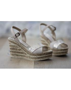 Бежови дамски ежедневни сандали Nona в online магазин Fashionzona