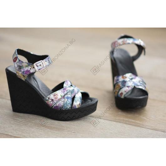 Черни дамски ежедневни сандали Sienna