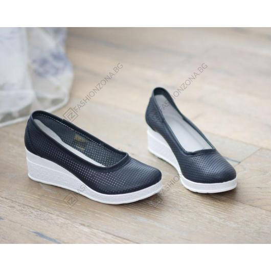 Сини дамски ежедневни обувки Sawyer