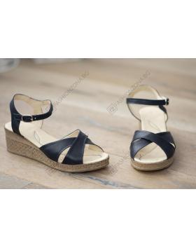 Сини дамски ежедневни сандали Naomi в online магазин Fashionzona