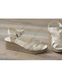 Бежови дамски ежедневни сандали Annika