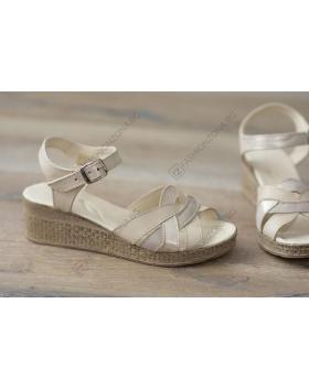Бежови дамски ежедневни сандали Annika в online магазин Fashionzona