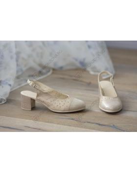 Бежови дамски ежедневни сандали Abby в online магазин Fashionzona
