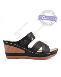 Черни дамски ежедневни чехли Bertha в online магазин Fashionzona