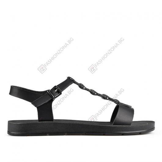 Черни дамски ежедневни сандали Carter