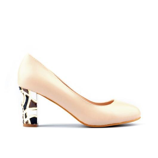 Бежови дамски елегантни обувки Kalie