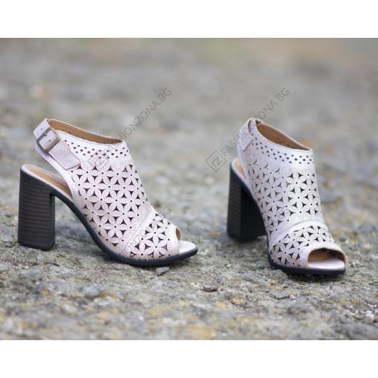Розови дамски елегантни сандали Kimora