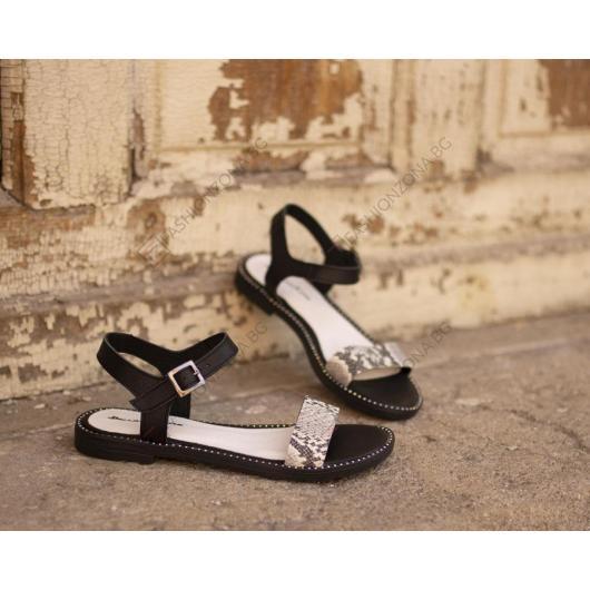 Черни дамски ежедневни сандали Paulette