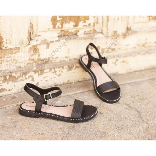 Черни дамски ежедневни сандали Phoebe