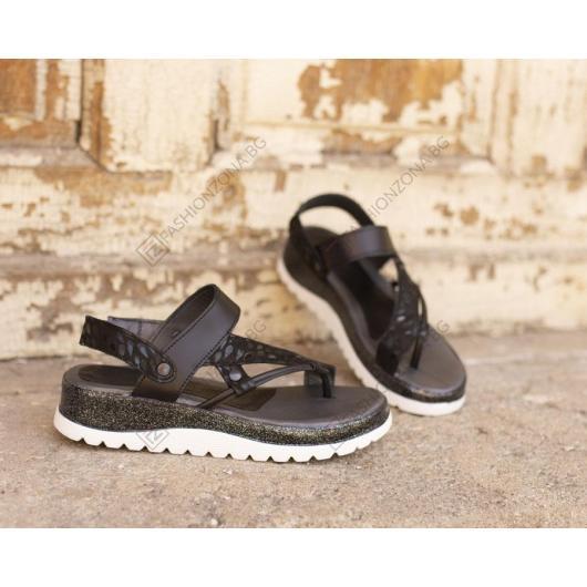 Черни дамски ежедневни сандали Imogene