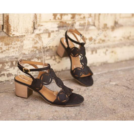 Черни дамски ежедневни сандали Ayleen