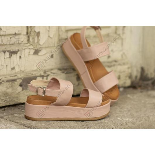 Розови дамски ежедневни сандали Ellis