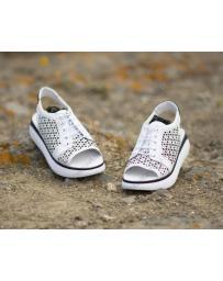 Бели дамски ежедневни сандали Dimana в online магазин Fashionzona