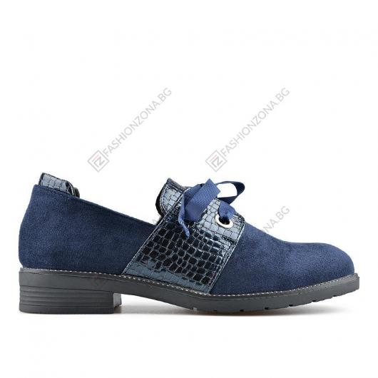 Сини дамски ежедневни обувки Cassandra