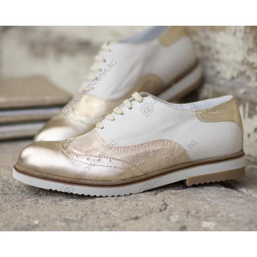 Бежови дамски ежедневни обувки Ivonna