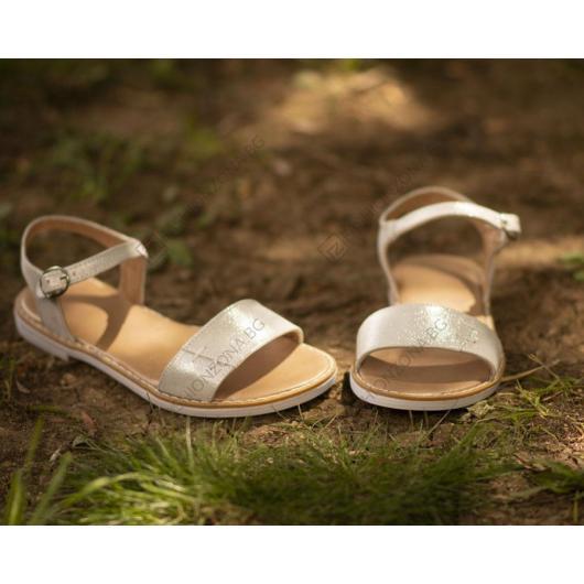 Сребристи дамски ежедневни сандали Adley