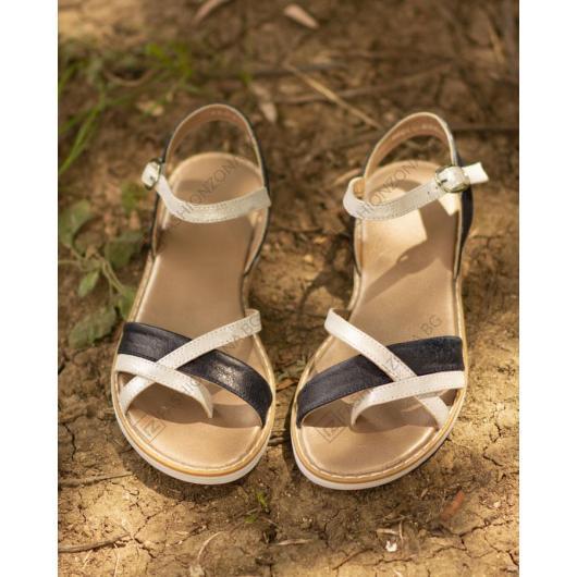 Сини дамски ежедневни сандали Cali