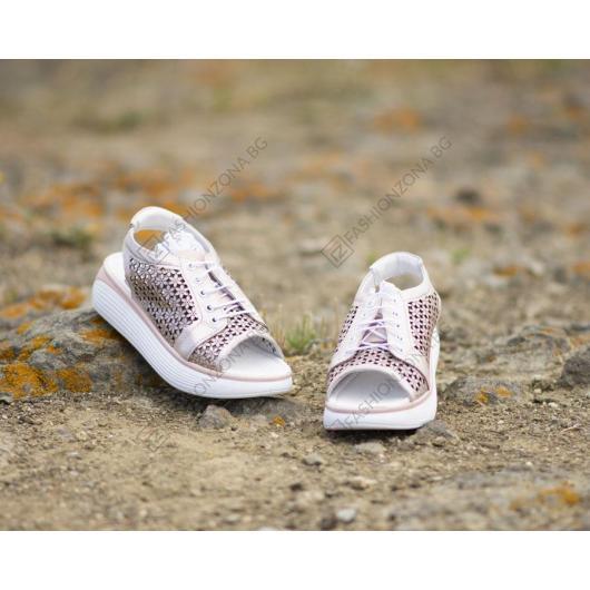 Розови дамски ежедневни сандали 4012 Cleo